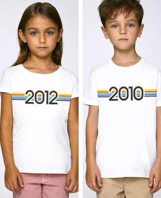 T-Shirt enfant Année de naissance personnalisée