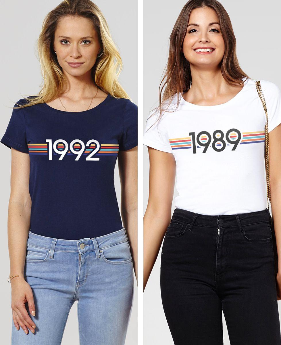 T-Shirt femme Année personnalisée