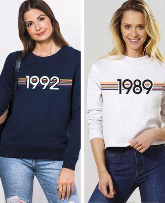 Sweatshirt femme Année personnalisé