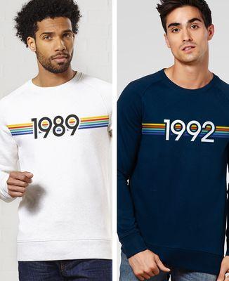 Sweatshirt homme Année personnalisé