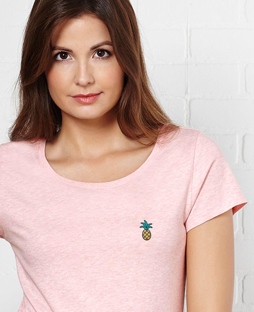 T-Shirt femme Ananas (brodé)