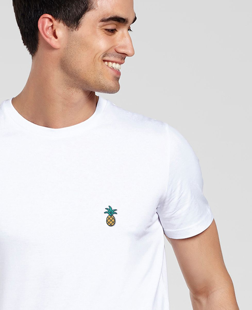 T shirt Ananas Broderie   Monsieur TSHIRT   Mode Homme