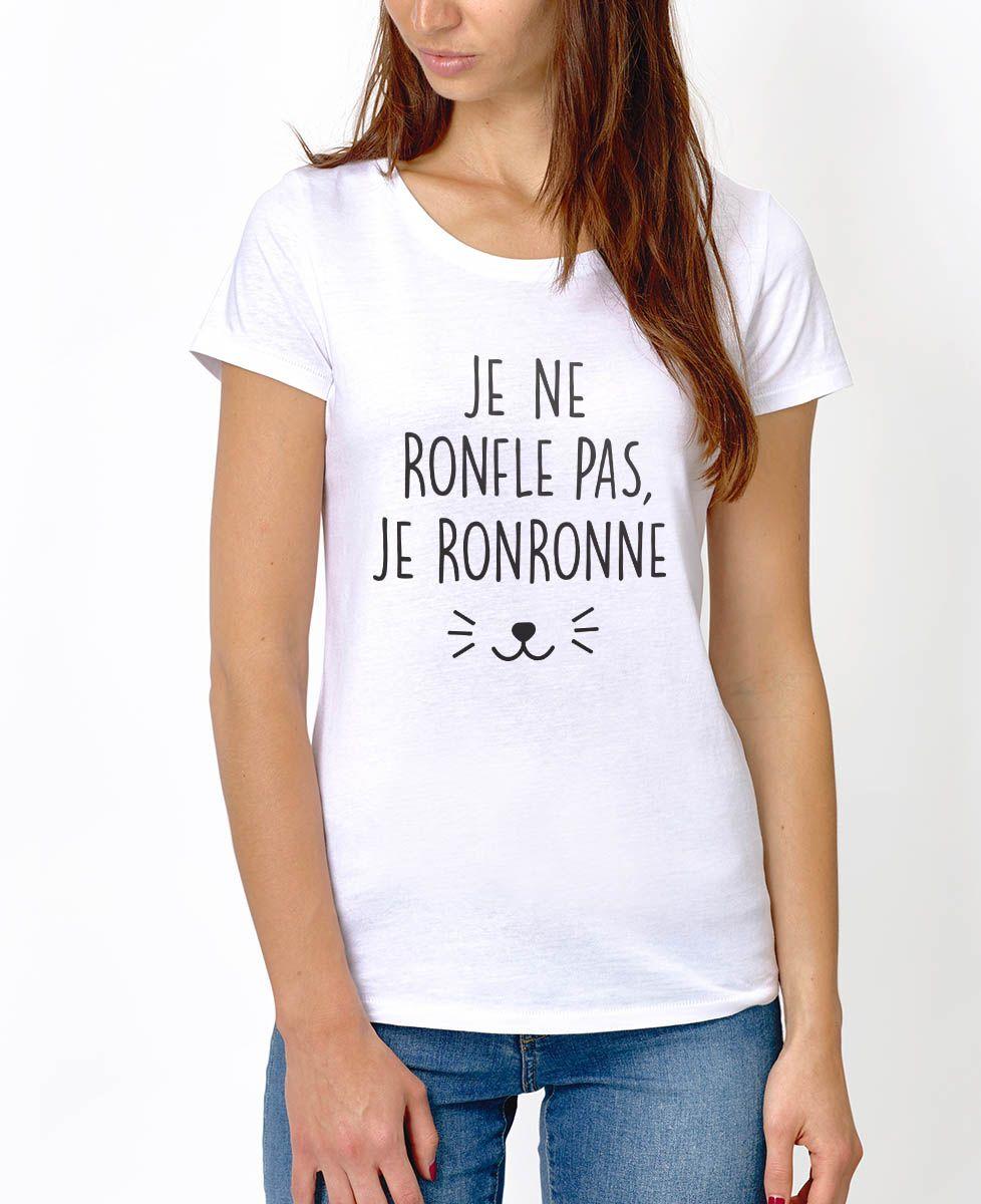 T-Shirt femme Je ne ronfle pas