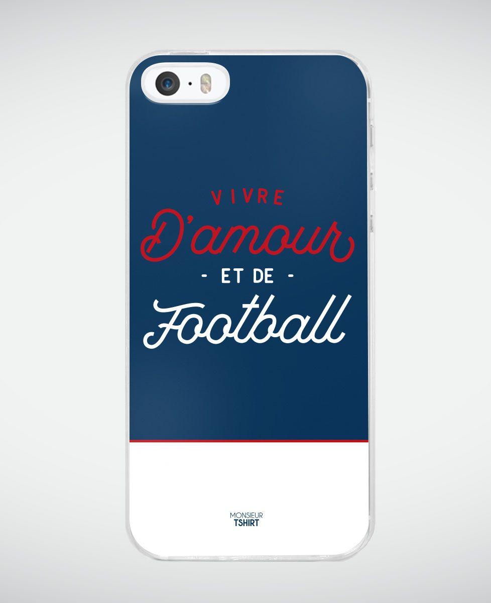 Coque smartphone Vivre d'amour et de football