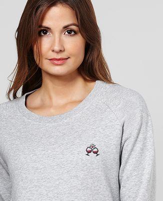 Sweatshirt femme Tchin tchin (brodé)