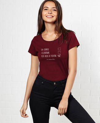 T-Shirt femme Femme en couple celibataire