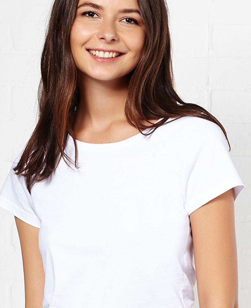 T-Shirt femme Tricolore brodé personnalisé