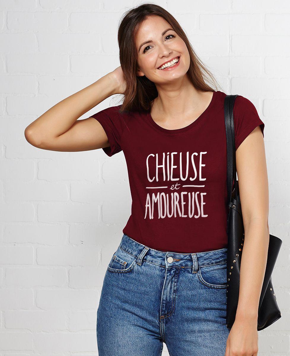 T-Shirt femme Chieuse et amoureuse
