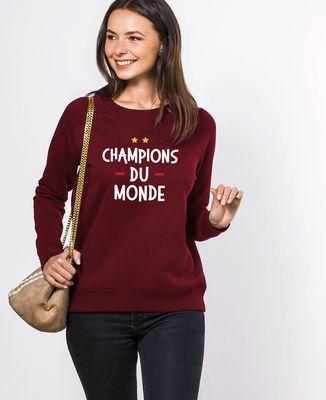 Sweatshirt femme Champions du monde
