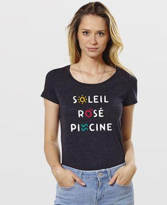 T-Shirt femme Soleil Rosé Piscine