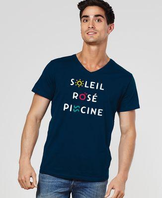 T-Shirt homme Soleil Rosé Piscine