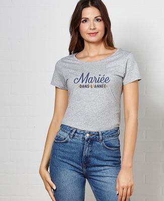 T-Shirt femme Mariée dans l'année