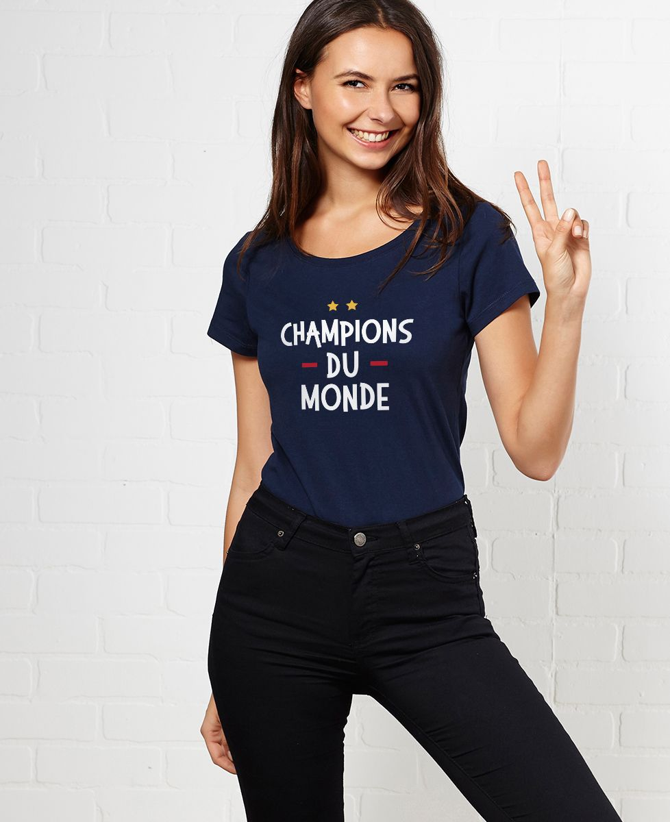 T Shirt femme Champions du monde