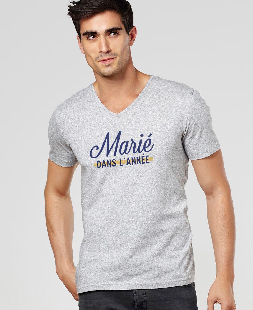 T-Shirt homme Marié dans l'année