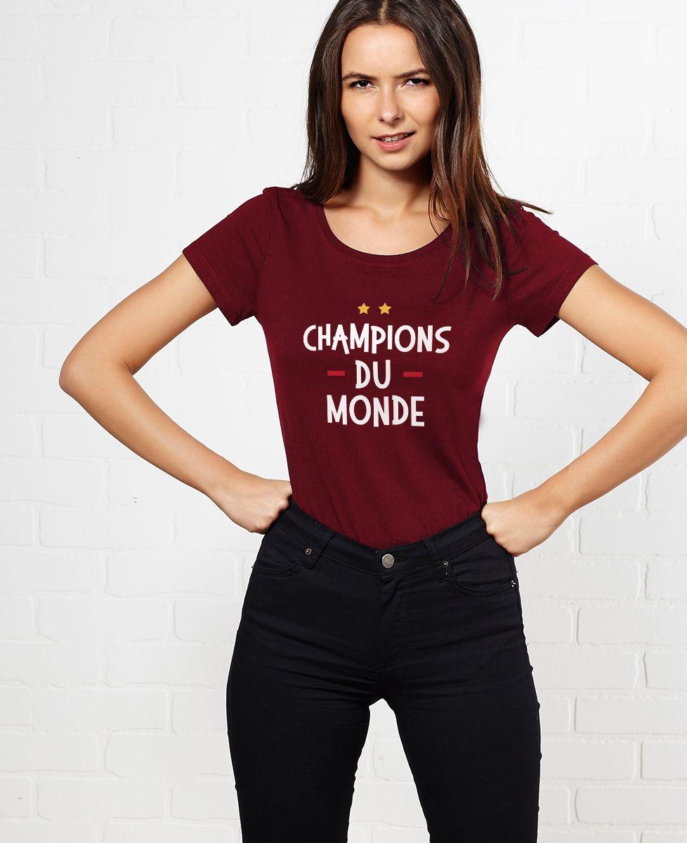 T-Shirt femme Champions du monde