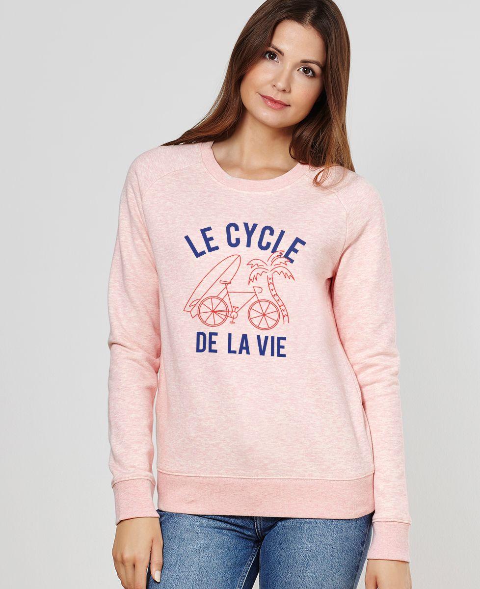 Sweatshirt femme Le cycle de la vie