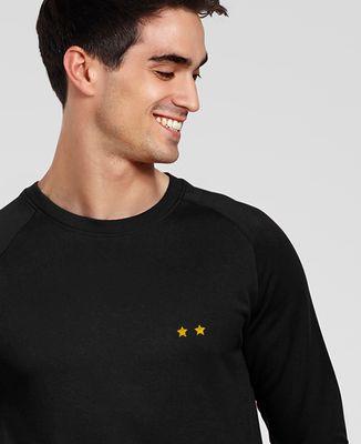 Sweatshirt homme Deux étoiles (brodé)
