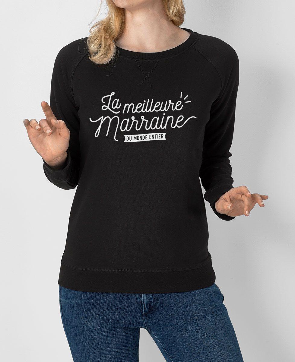 Sweatshirt femme La meilleure marraine