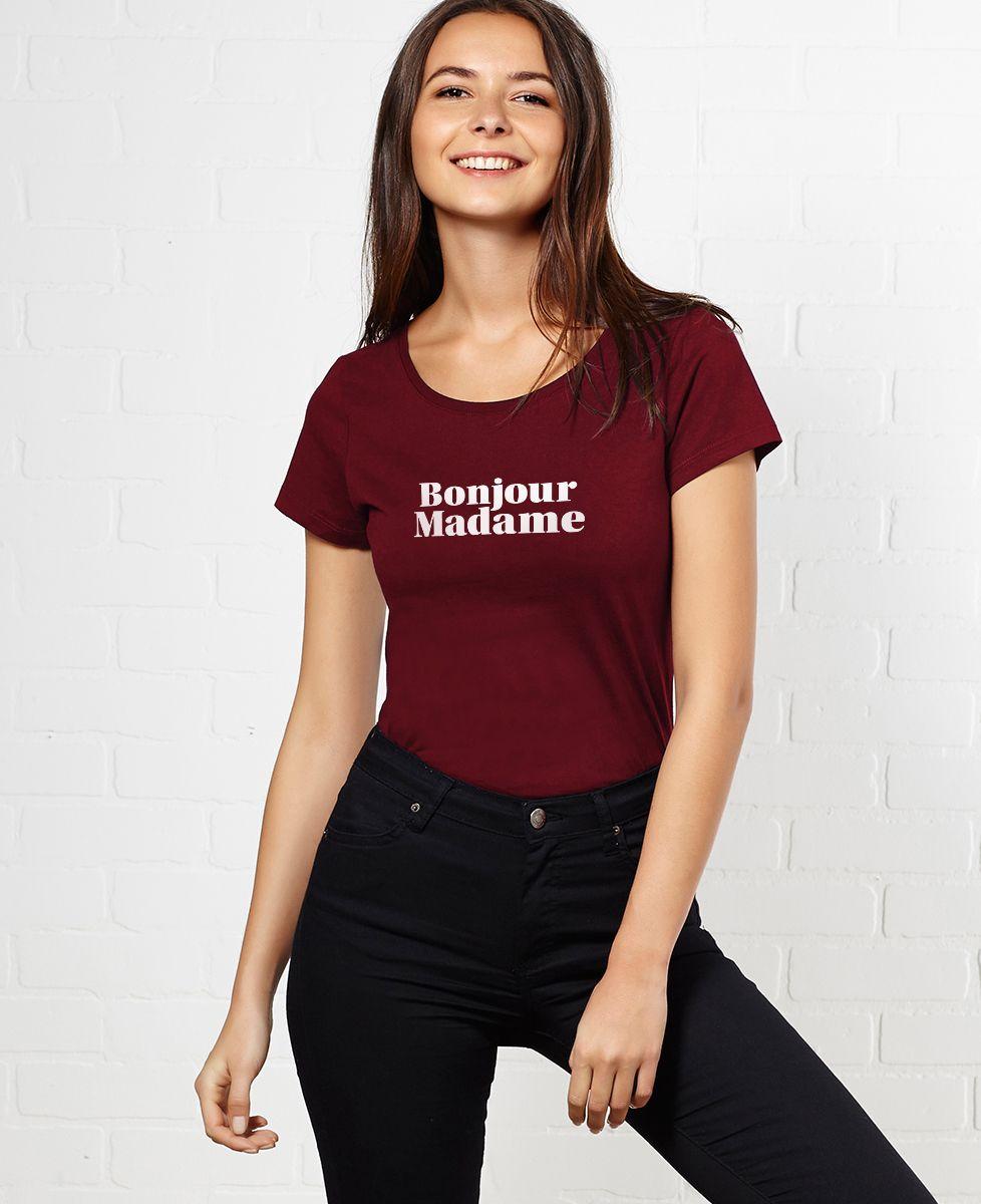 T-Shirt femme Bonjour Madame