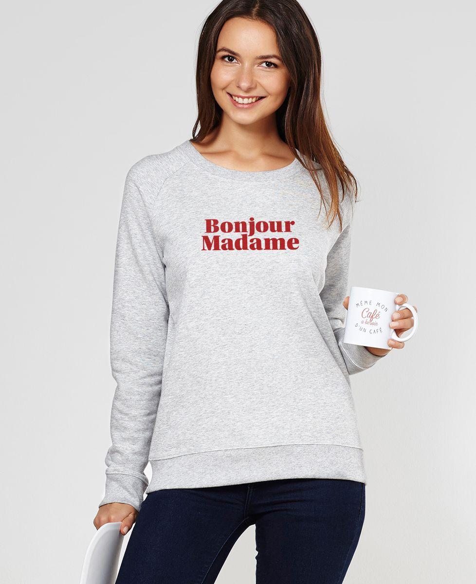 Sweatshirt femme Bonjour Madame