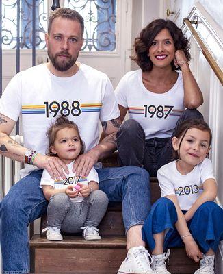 T-Shirt bébé Année de naissance personnalisée