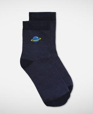 Chaussettes femme Planète (brodé)