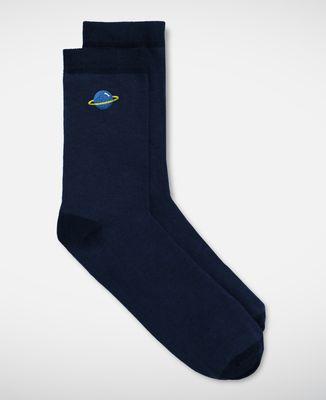 Chaussettes homme Planète (brodé)