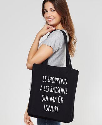 Tote bag Le shopping à ses raisons