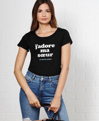 T-Shirt femme J'adore ma soeur