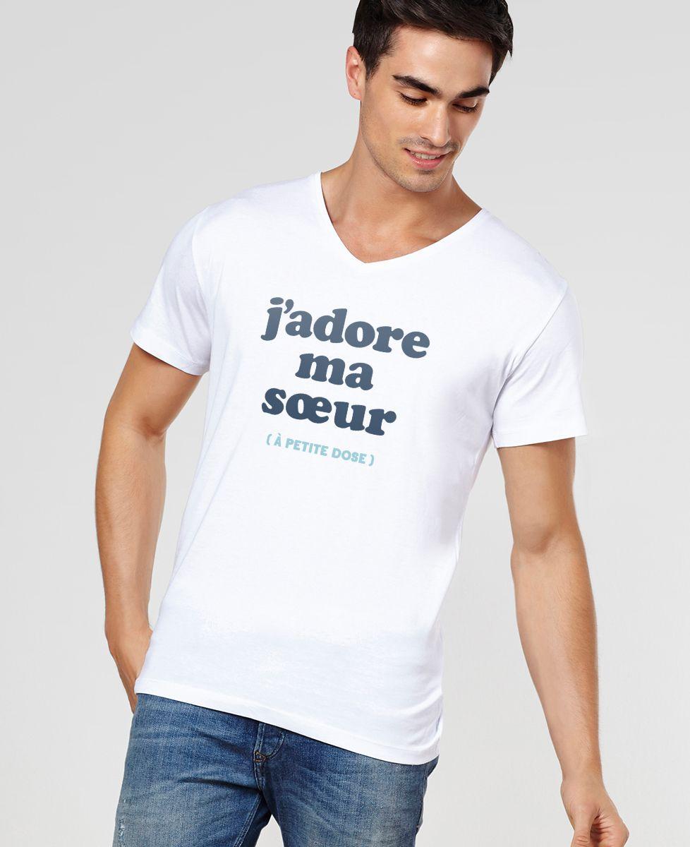 T-Shirt homme J'adore ma soeur