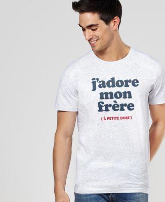 T-Shirt homme J'adore mon frère