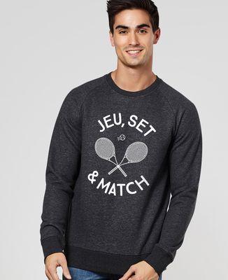 Sweatshirt homme Jeu, set & match