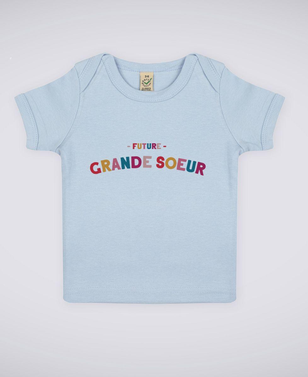 T-shirt bébé future grande soeur | Monsieur