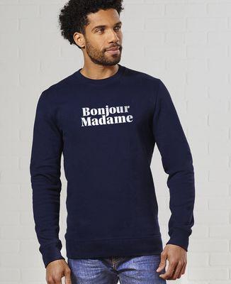 Sweatshirt homme Bonjour Madame