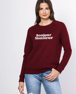Sweatshirt femme Bonjour Monsieur