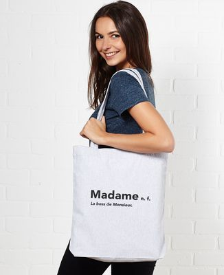 Tote bag Madame la boss