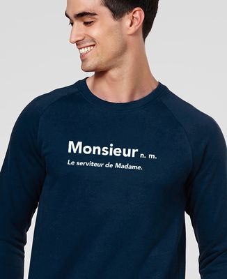 Sweatshirt homme Monsieur le serviteur