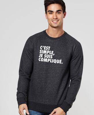 Sweatshirt homme C'est simple je suis compliqué