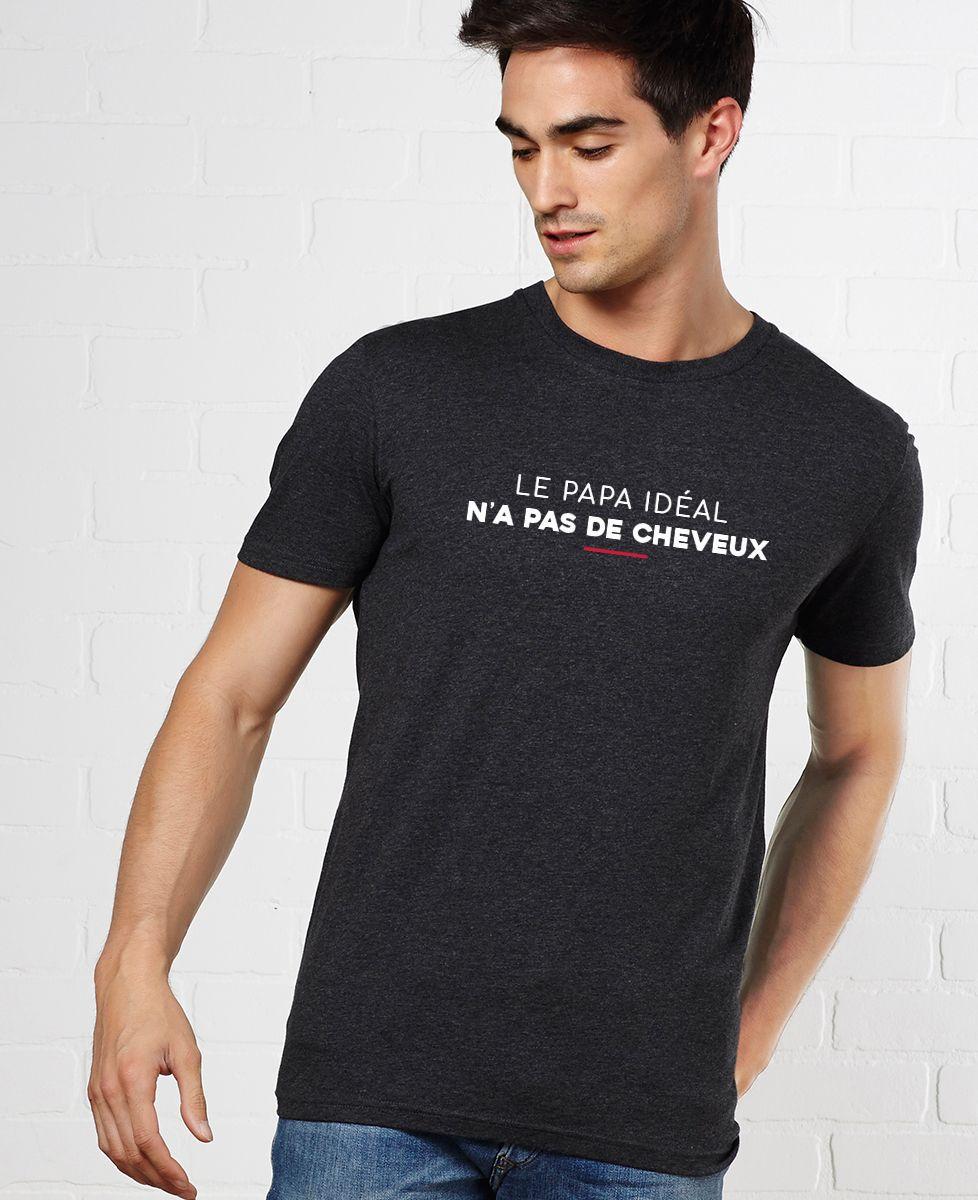 T-Shirt homme Le papa idéal n'a pas de cheveux