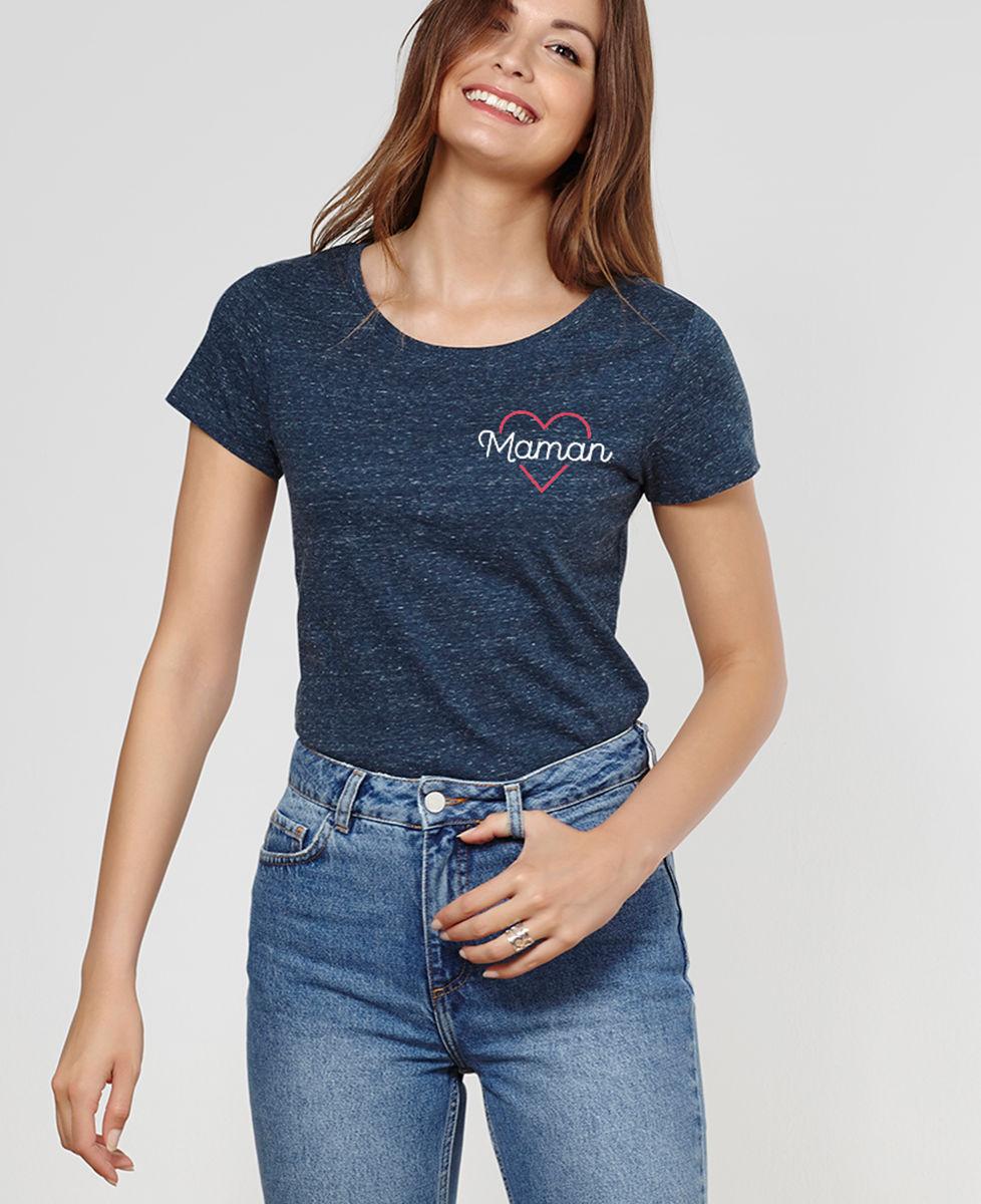 T-Shirt femme Maman coeur