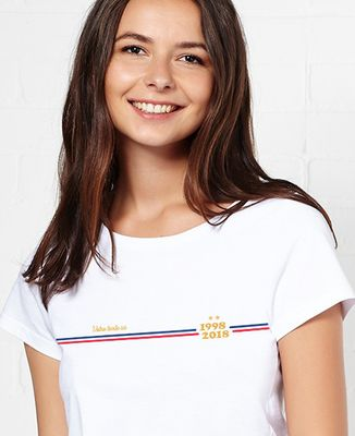 T-Shirt femme Supporter France personnalisé