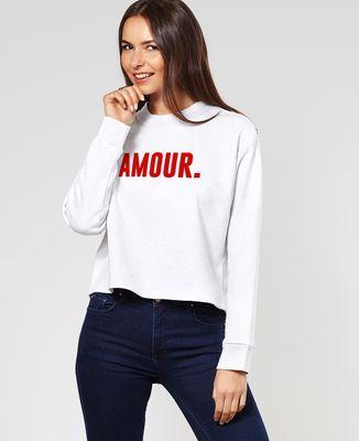 Sweatshirt femme Amour (effet velours)