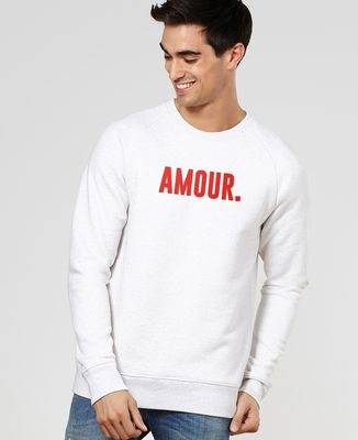 Sweatshirt homme Amour (effet velours)
