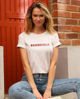 T-Shirt femme Mademoiselle (effet velours)