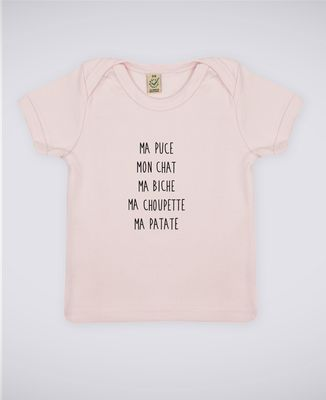 T-Shirt bébé Ma puce