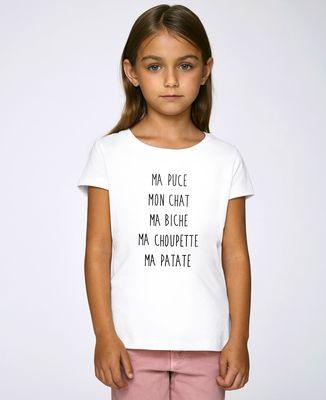 T-Shirt enfant Ma puce