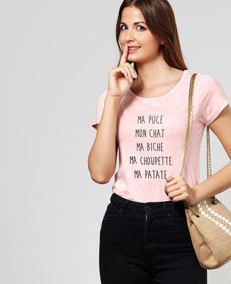 T-Shirt femme Ma puce