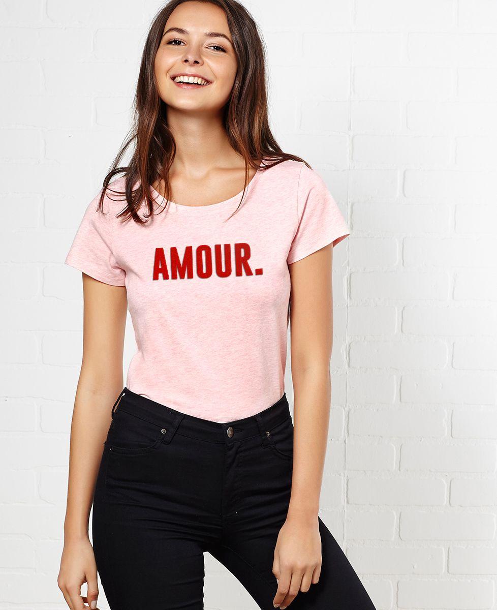 T-Shirt femme Amour (effet velours)