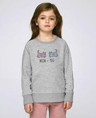 Sweatshirt enfant Meow + You