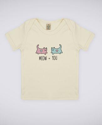 T-Shirt bébé Meow + You